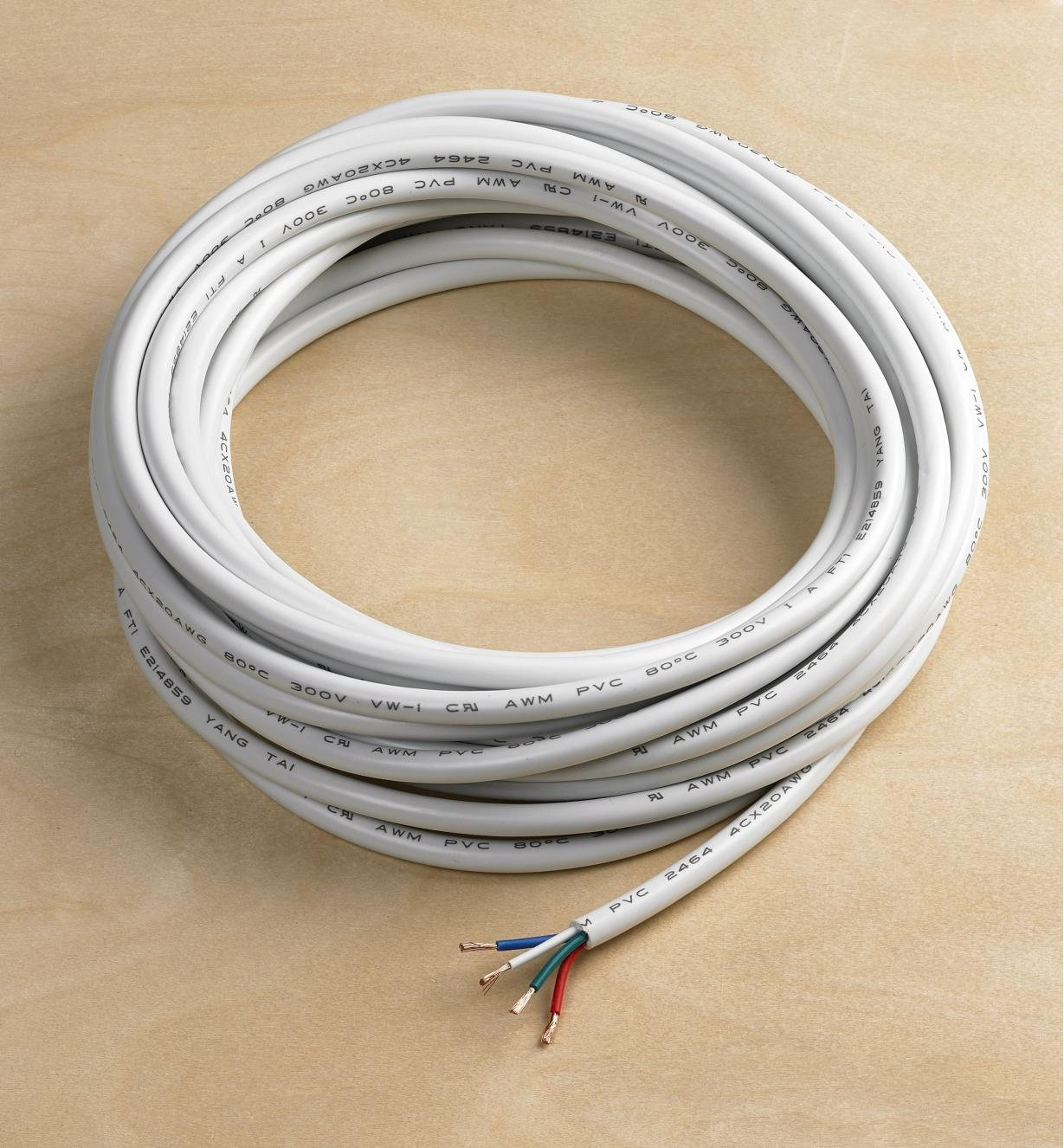 00U4160 - 20 ga 4-Conductor In-Wall Wire, 26' (8m)