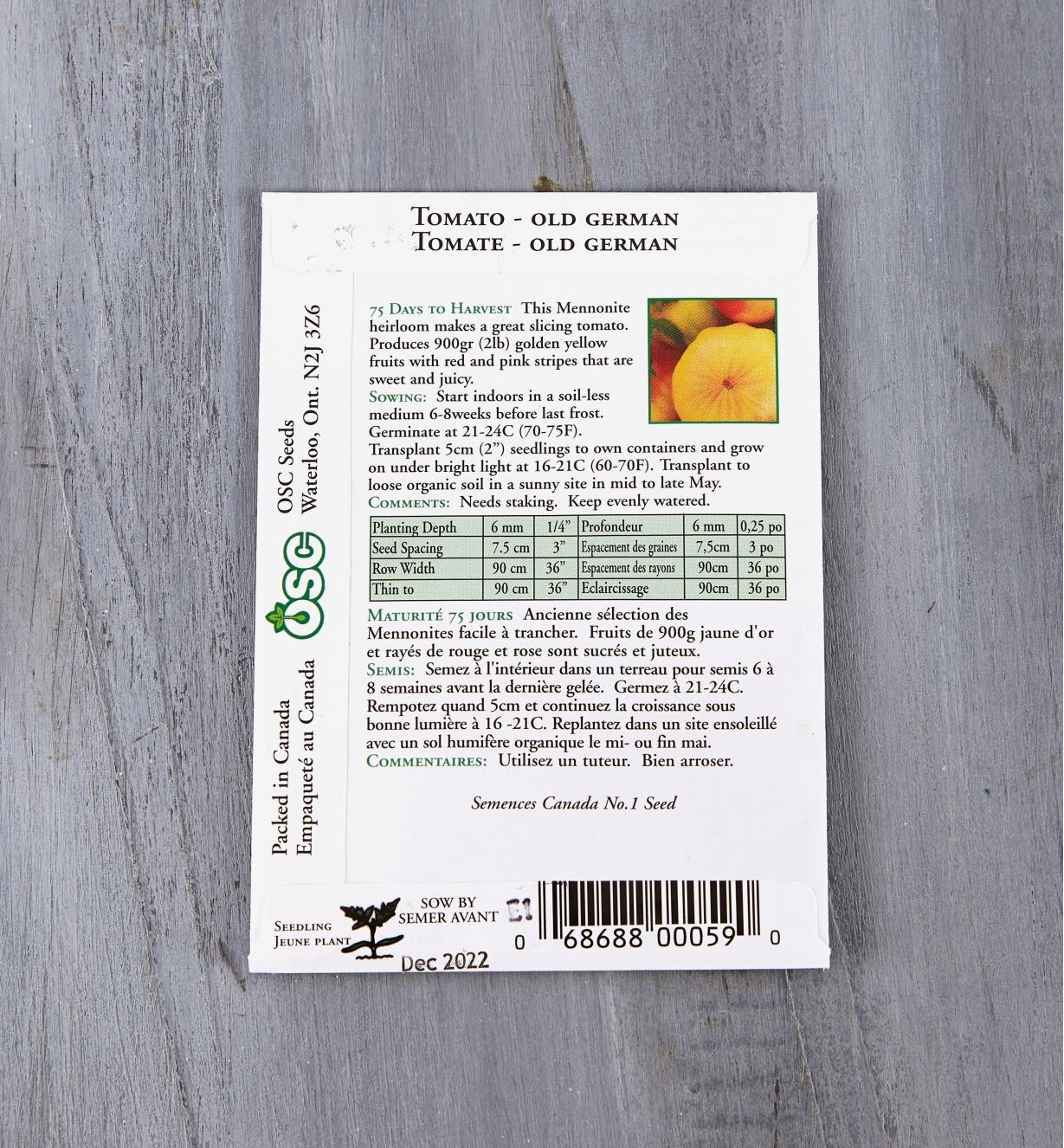 SD119 - Tomate Old German