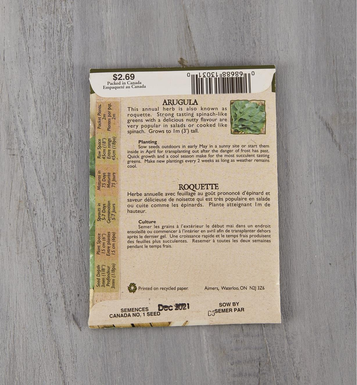 SD126 - Organic Arugula
