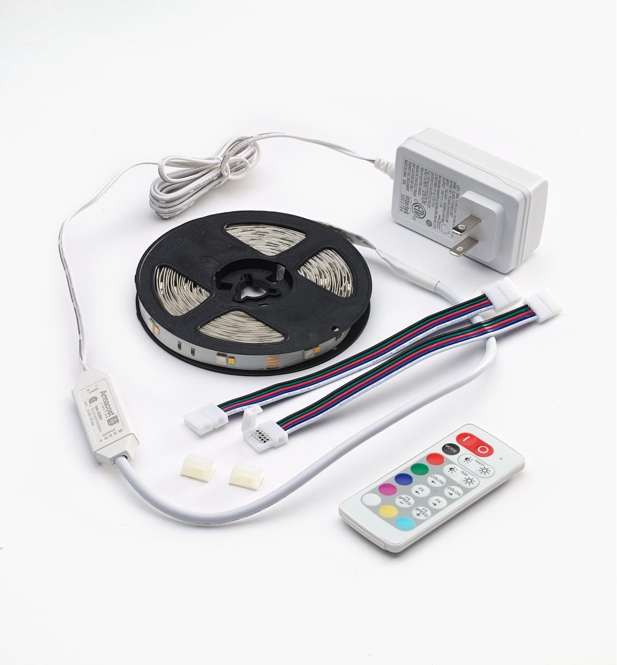 00U4119 - Ensemble de luminaire-ruban à DEL à couleur réglable pour l'intérieur