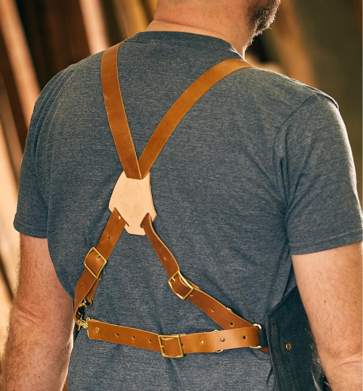 Back of a man wearing the All-Purpose Apron
