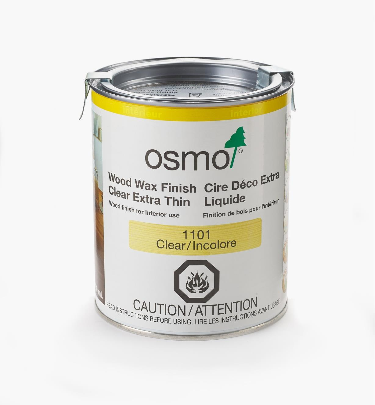 27K2741 - Osmo Extra-Thin Wood Wax 1101 Clear, 750ml (25.5 fl oz)