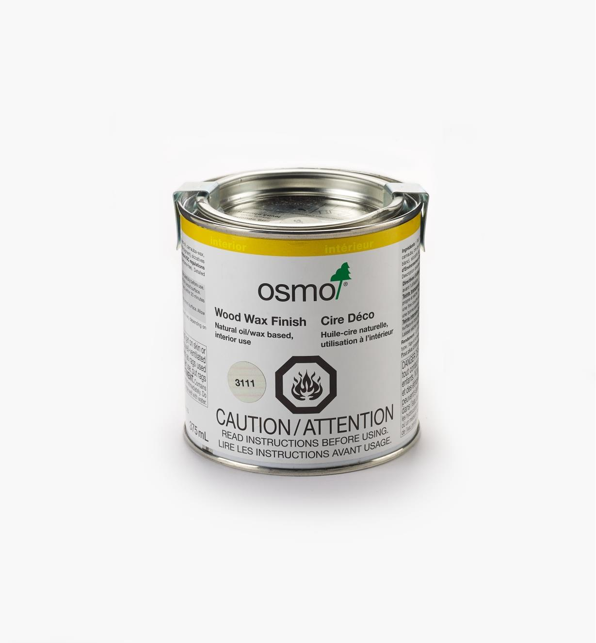 27K2750 - Osmo 3111 White Wood Wax, 375ml (12.5 fl oz)