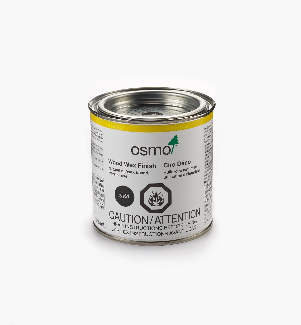 27K2752 - Osmo 3161 Ebony Wood Wax, 375ml (12.5 fl oz)
