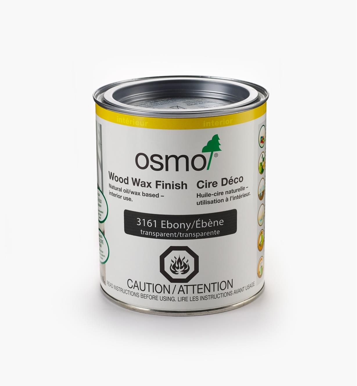 27K2753 - Osmo 3161 Ebony Wood Wax, 750ml (25.5 fl oz)