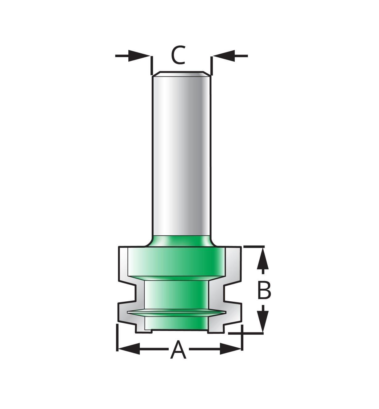 Drawer Lock Bit