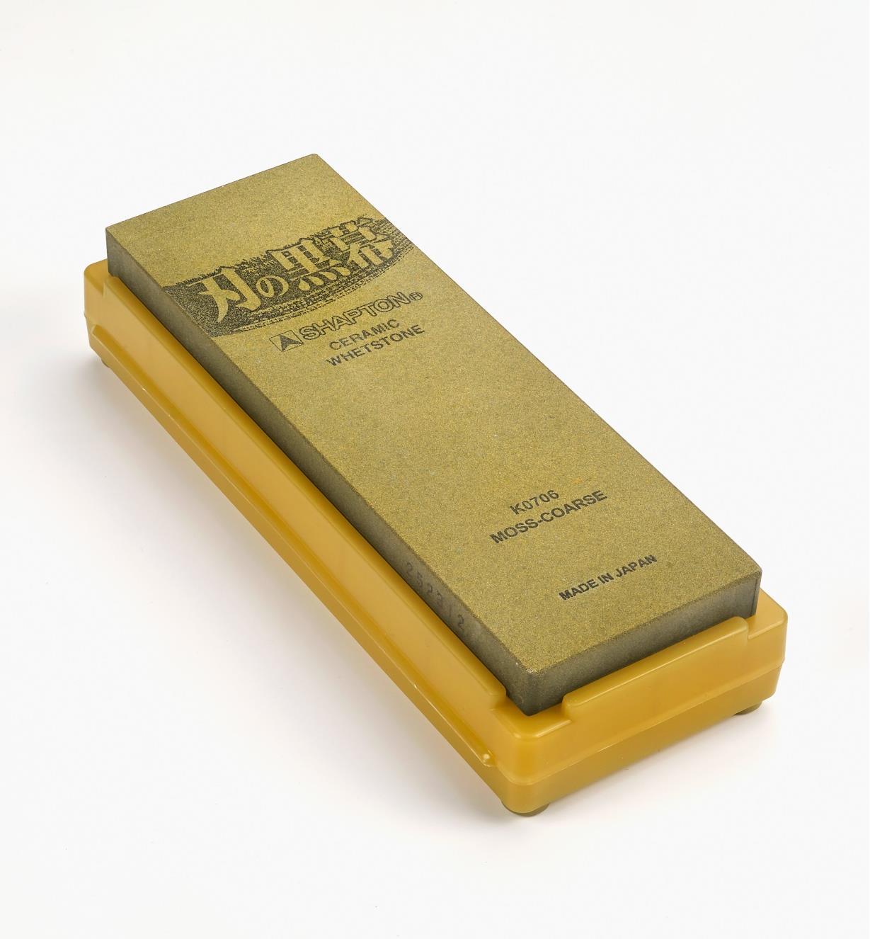 61M0102 - Shapton 220x Moss Ha-No-Kuromaku Ceramic Stone
