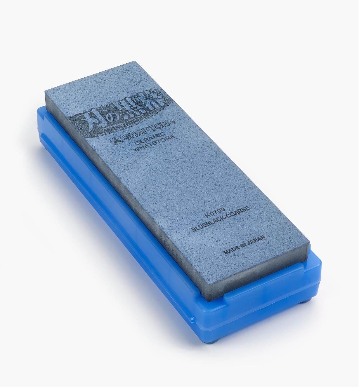 61M0103 - Shapton 320x Blue-Black Ha-No-Kuromaku Ceramic Stone