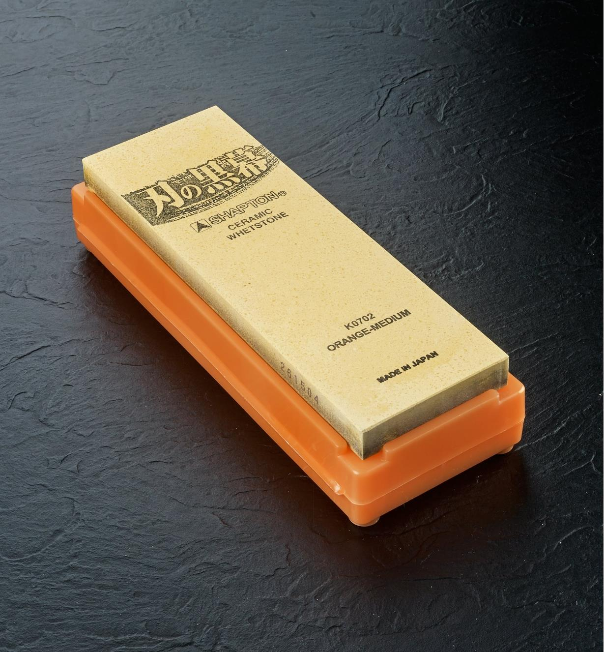 61M0104 - Shapton 1000x Orange Ha-No-Kuromaku Ceramic Stone
