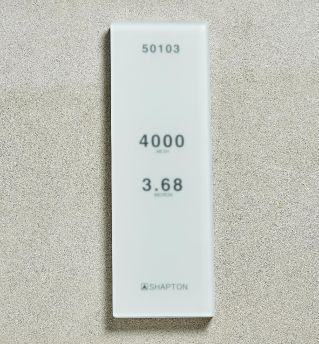 61M0308 - Shapton GlassStone HR Stone 36.8µ 4000x