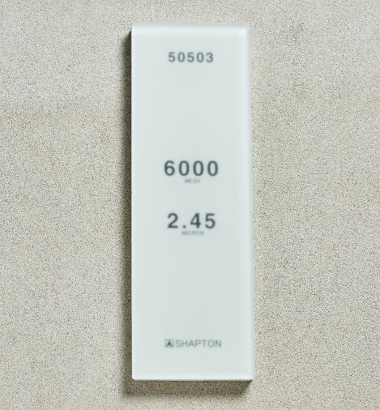 61M0309 - Shapton GlassStone HR Stone 2.45µ 6000x