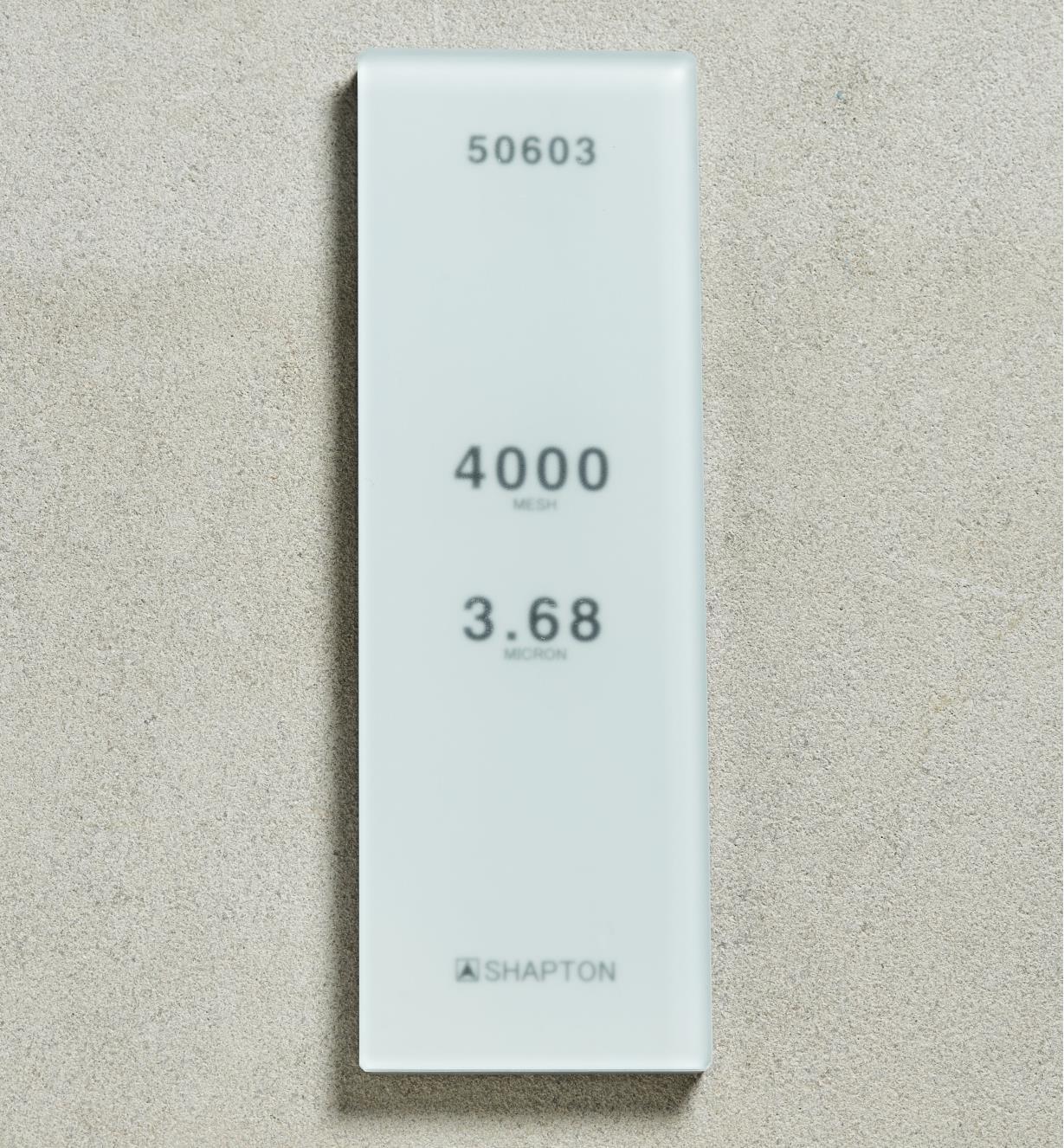 61M0328 - Shapton GlassStone HC Stone 3.68µ 4000x