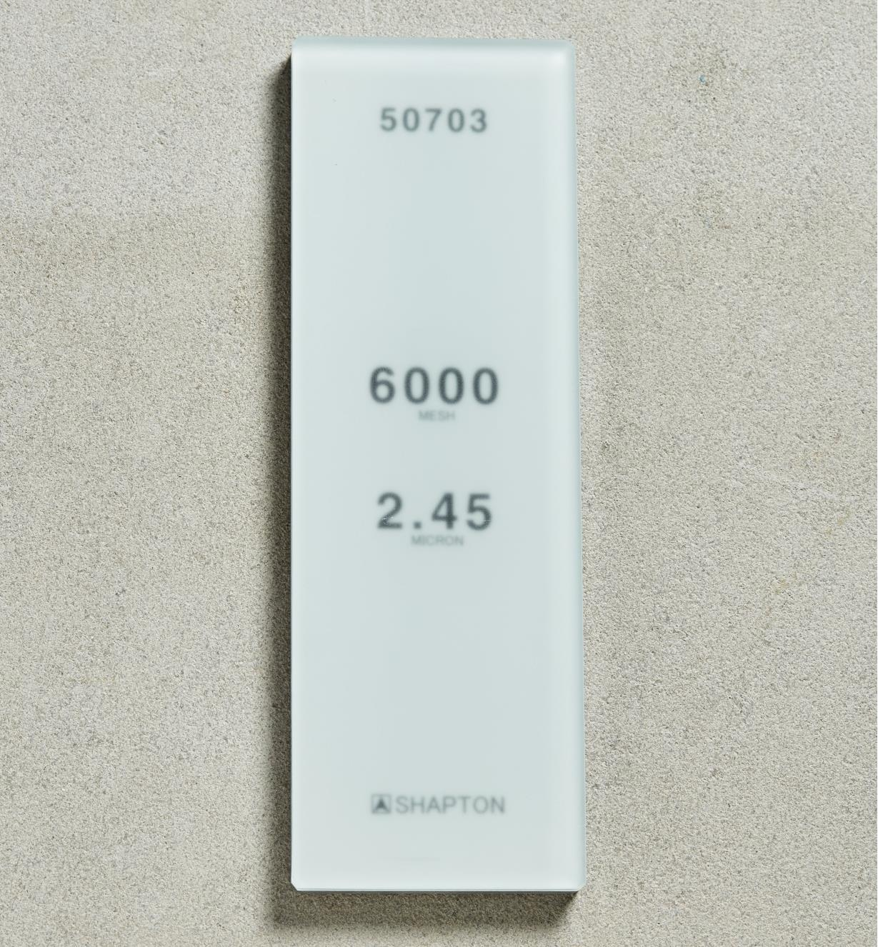 61M0329 - Shapton GlassStone HC Stone 2.45µ 6000x