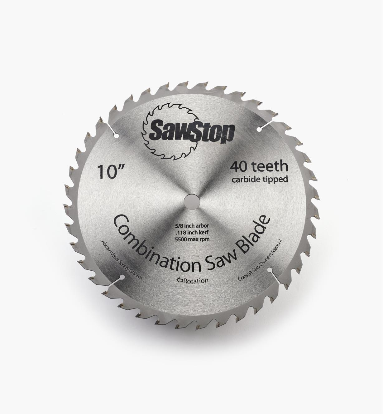 """95T0525 - SawStop 10"""" 40-Tooth Combination Blade"""