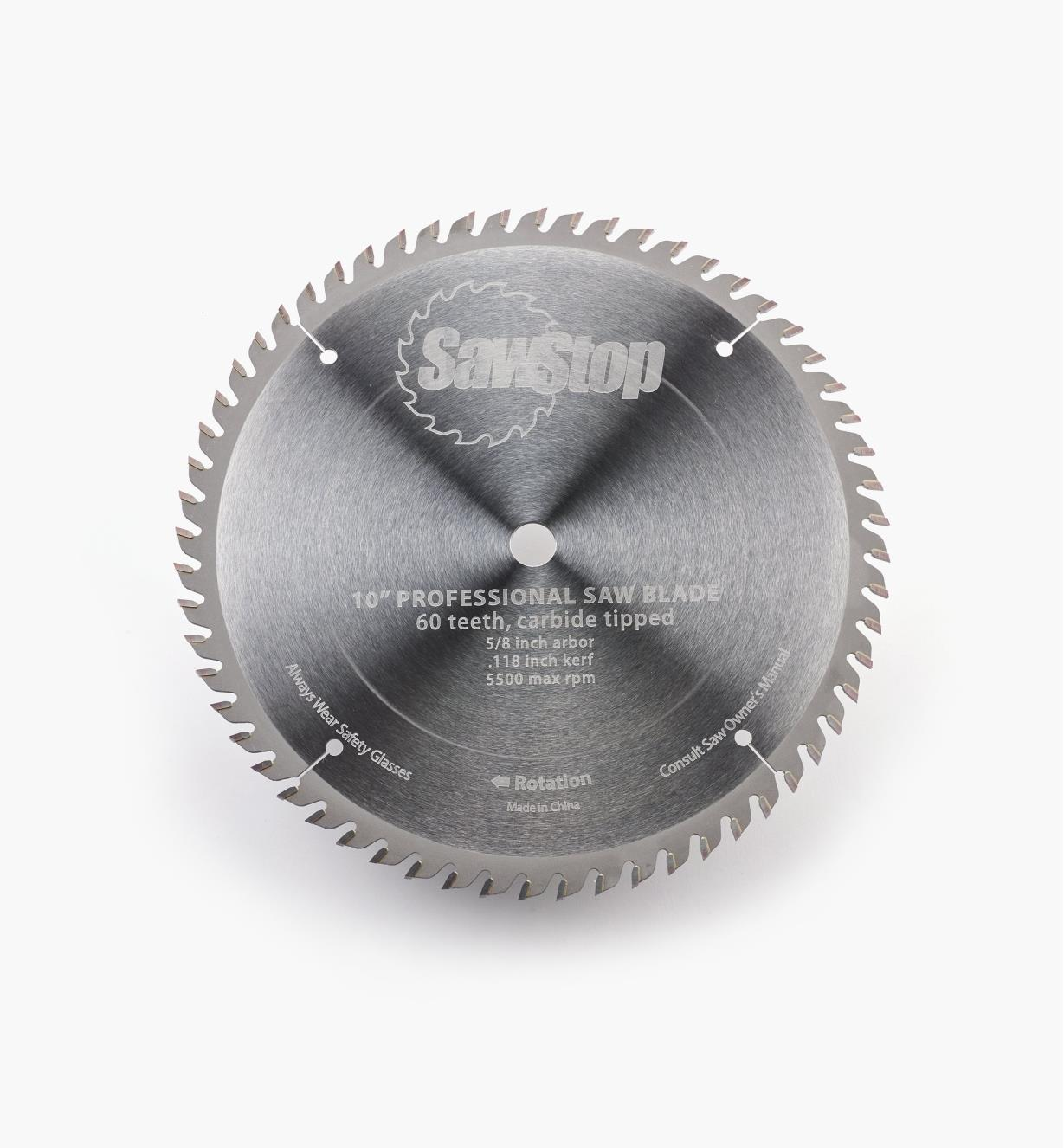 """95T0526 - SawStop 10"""" 60-Tooth Combination Blade"""