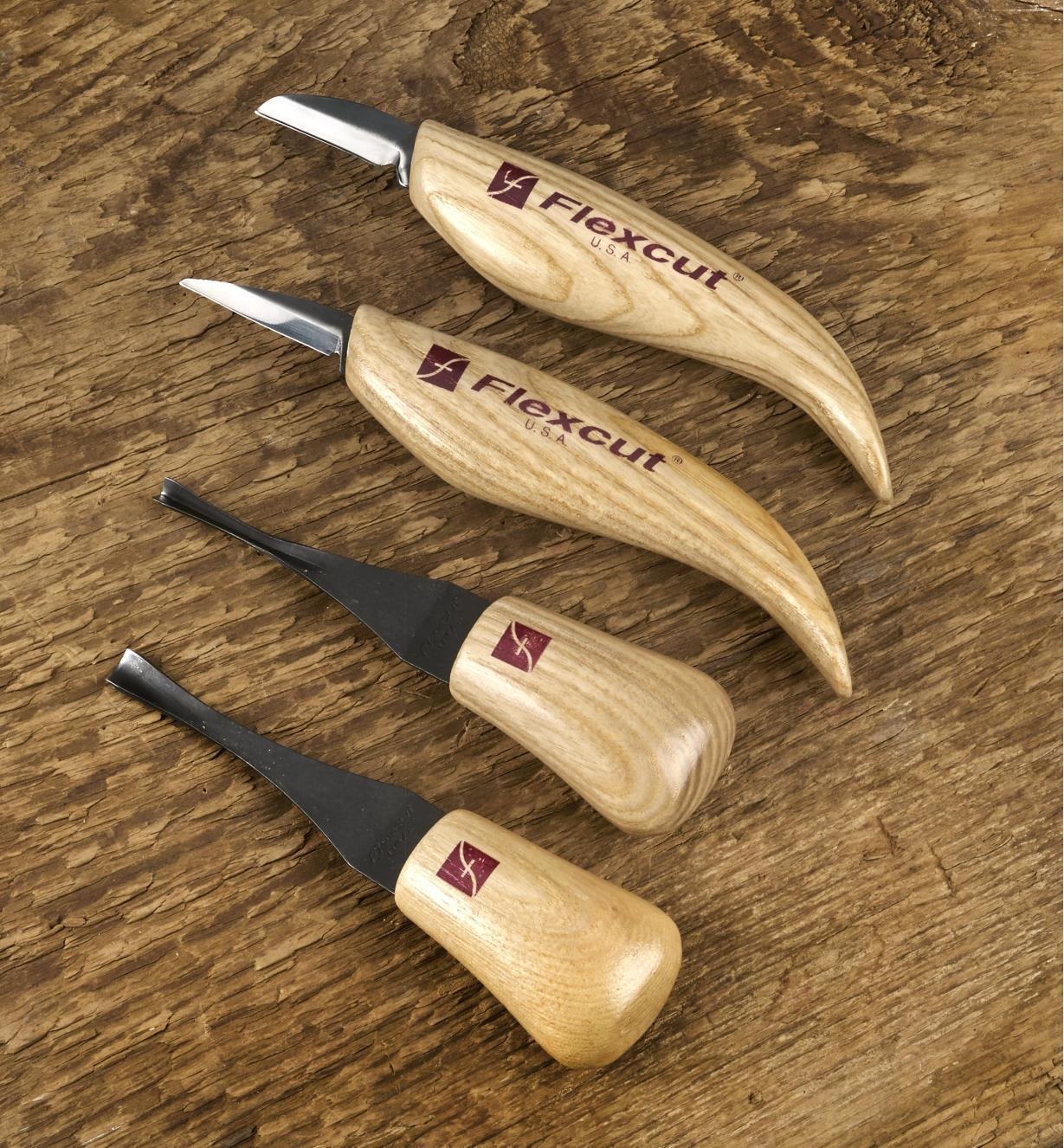 99W8647 - Jeu de 4 outils de sculpture Flexcut