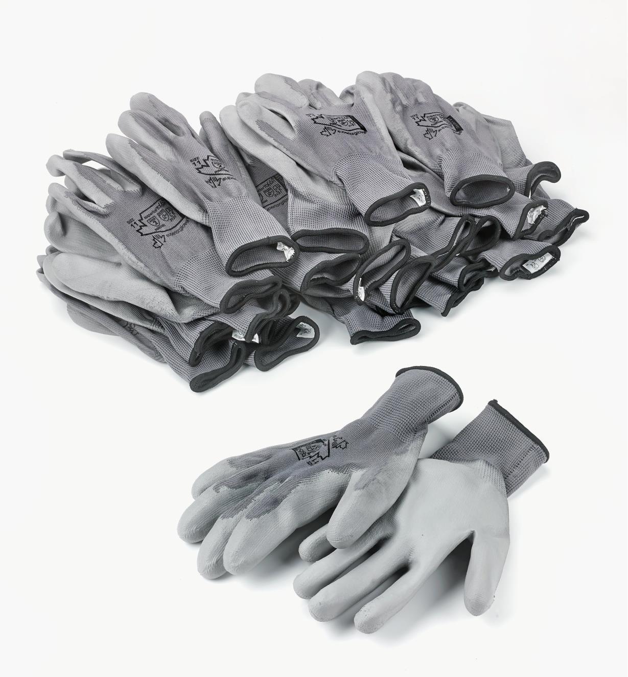 99W8688 - Gants de travail légers, grand (pointure 11), 12 paires