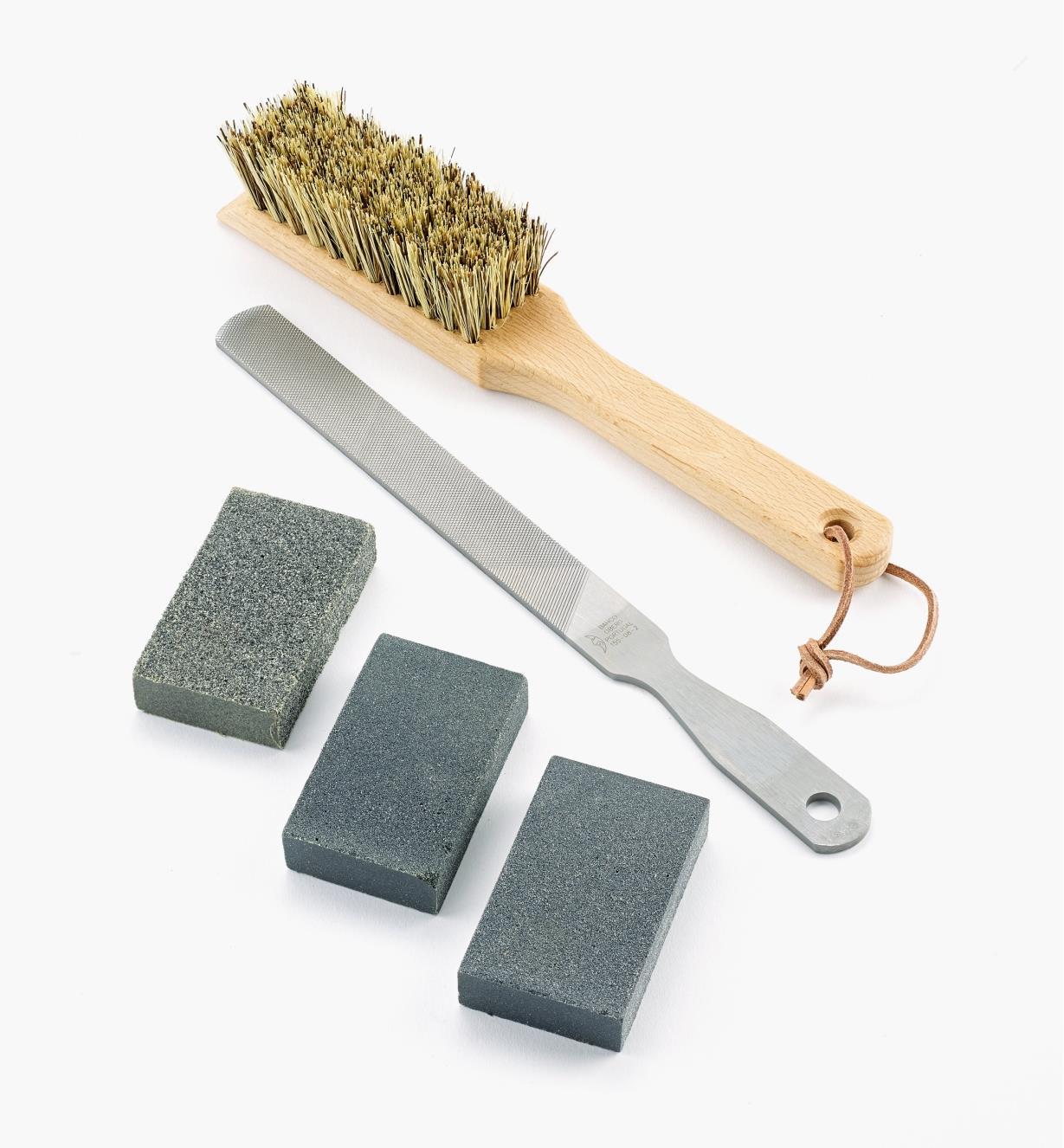 BR210 - Ensemble d'entretien pour outils de jardin