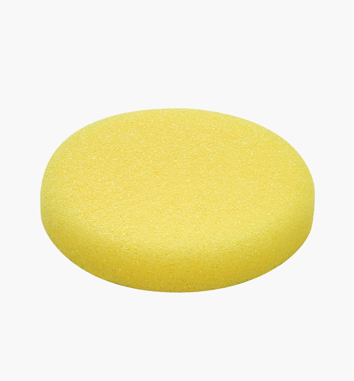 Éponge de polissage jaune de 125 mm