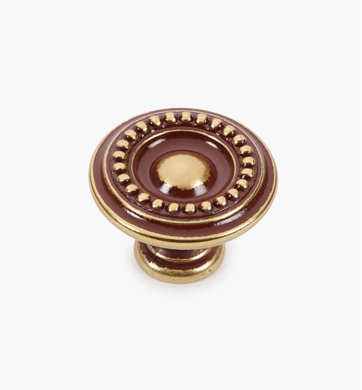 01A7322 - 35mm × 25mm Antique Bronze Pearled Knob