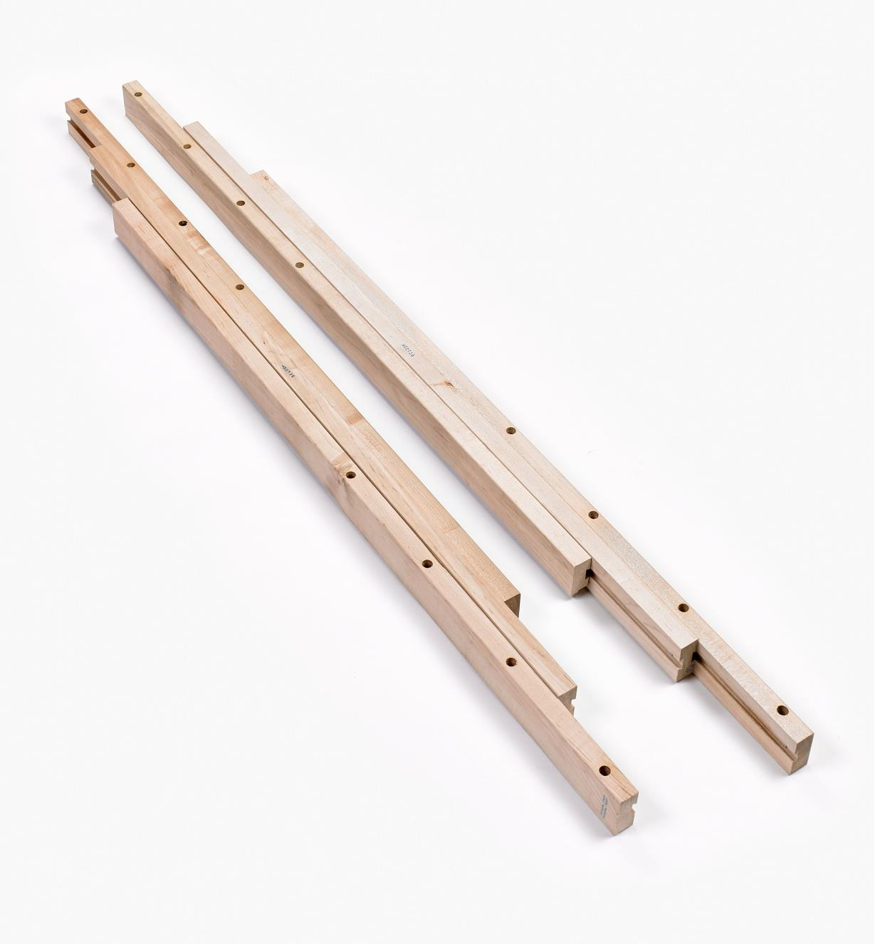 17K1504 - Coulisses de table à pied central –46po, la paire
