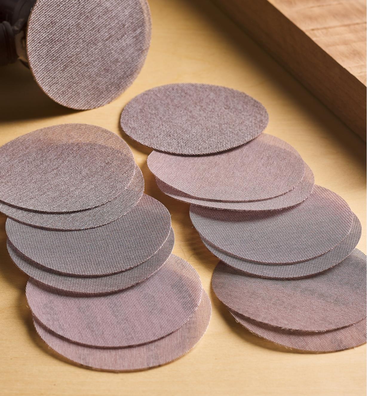 "55K9190 - 14-Pc. 5"" Abranet Sanding Disc Sampler (80x-600x)"