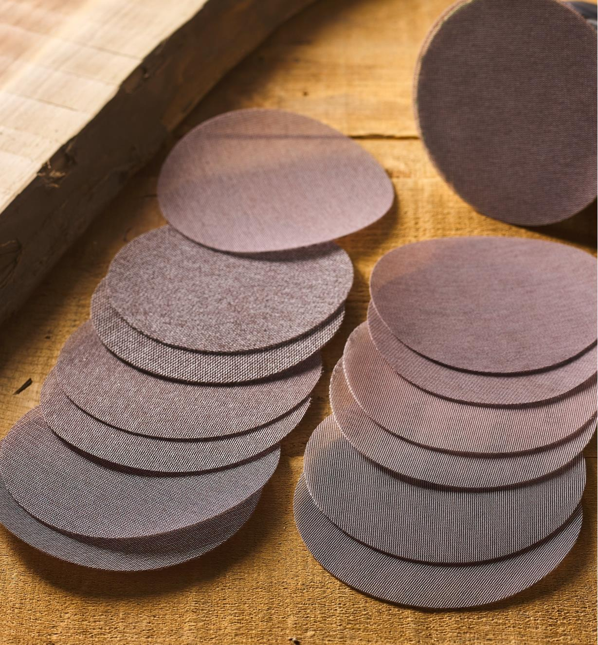 "55K9290 - 14-Pc. 6"" Abranet Sanding Disc Sampler (80x-600x)"