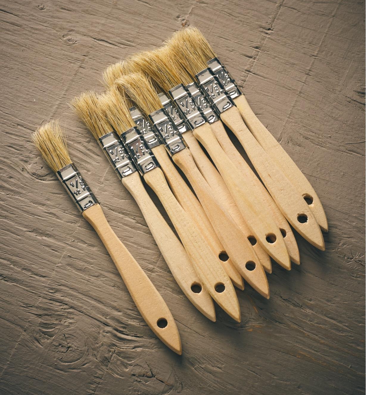 """56Z9920 - 1/2"""" Bristle Brushes, pkg of 10"""