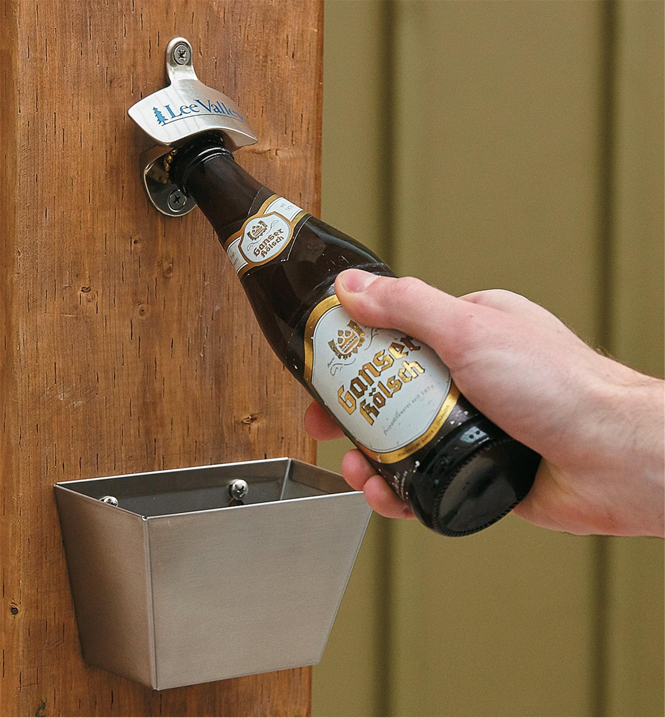 Wall Mount Bottle Opener Cap Catcher Lee Valley Tools