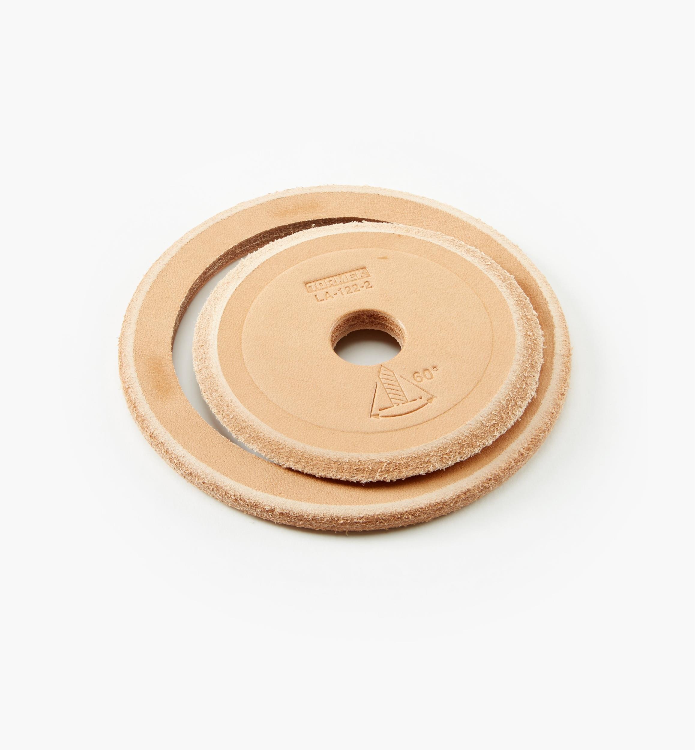 Tormek #TOR-LA120 Profiled Leather Honing Wheel
