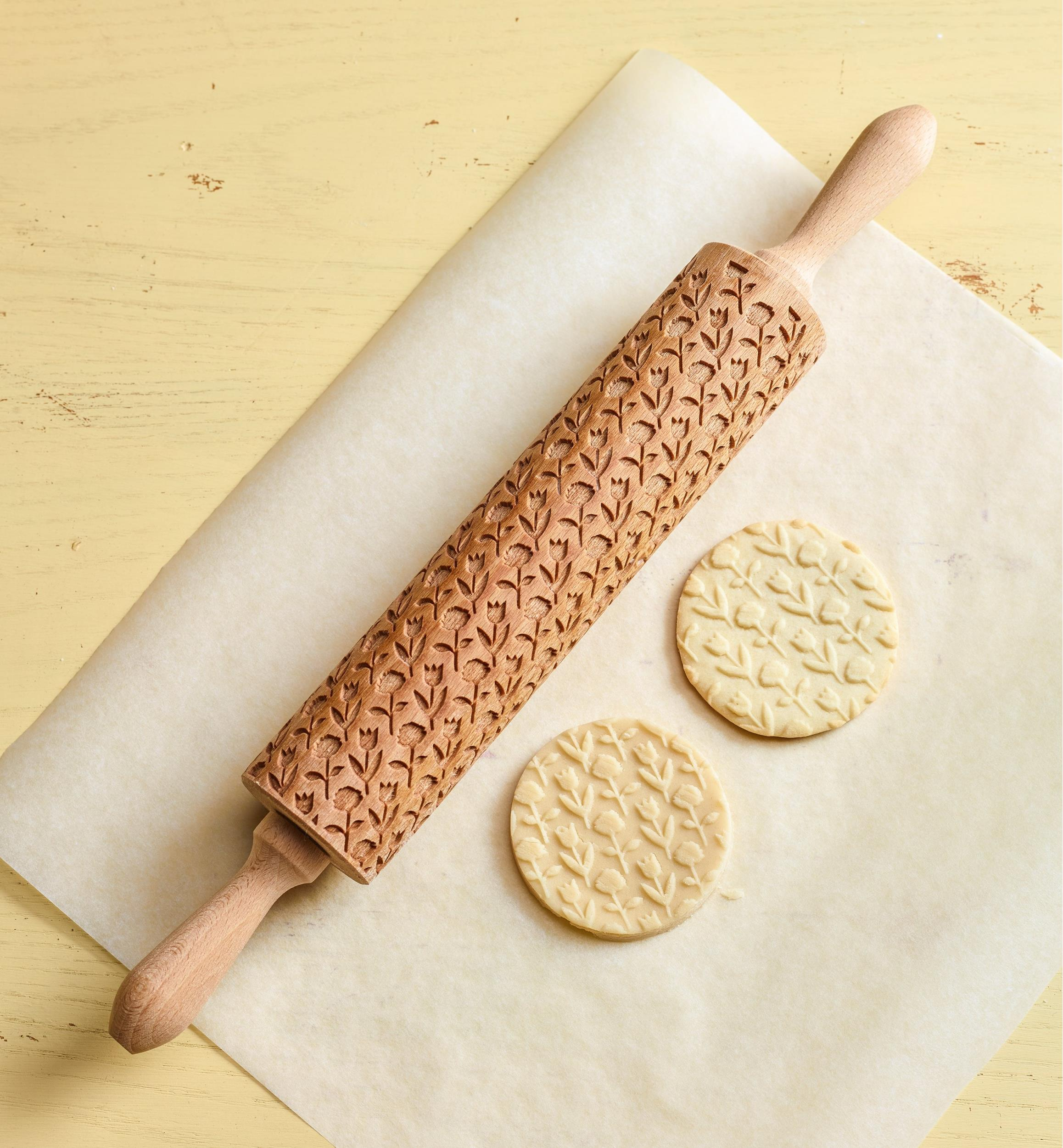 DRAGONFLY Laser Engraved Rolling-pin Decorating Roller Embossing Rollingpin Engraved rolling pin for Cookies